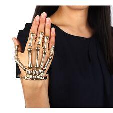 Punk Gothic Devil Talon Skeleton Skull Bone Hand Finger Ring Bracelet.UK