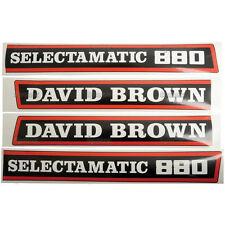 New David Brown 880 Selectamatic Hood Decal Set