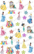 30 ASSORTED DISNEY PRINCESSES WATER SLIDE NAIL ART DECALS CUTE!