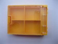 4 pcs SMD SMT Electronic Component Mini storage box 4 blocks Yellow Color T-84