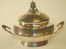 Vintage SIMPSON HALL MILLER CO Silver Plated Chafing Dish Chilled Server (?) 3pc