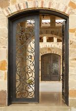 "Hand Crafted, 12 Gauge Wrought Iron Entry Door by Monarch Custom Doors 72"" x 81"""