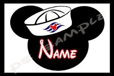 4x6 Disney Cruise Stateroom Door Magnet - MICKEY SAILOR PERSONALIZED