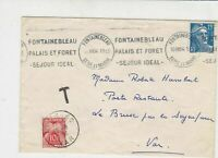 France 1954 Fontainebleau Palace & Forest Slogan + Cancel Stamps Cover Ref 29821