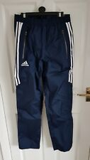 Adidas RRP £ 70 Rain Pants Trousers 28' Waist Extra Small Mens Waterproof Shower
