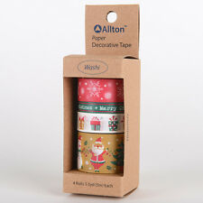 Christmas Decorative Self Adhesive Masking Washi Tape Sticky Paper Sticker Set