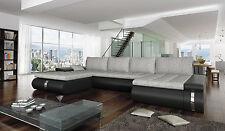Couchgarnitur Sofa Garnitur Schlafsofa FADO LUX mit Schlaffunktion U Form Sofa
