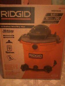 RIDGID 16 Gallon (60L) Wet/Dry Shop Home Vacuum Cleaner