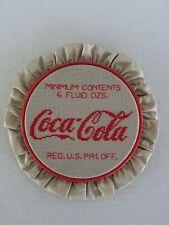 Vintage Cross Stitch Coca Cola Pattern Coke Minimum Contents 6 Fluid Ozs.