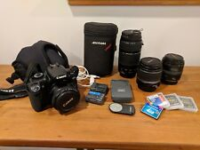 Canon EOS Rebel XTi DSLR (black) 10.1MP with FOUR LENSES and OTHER EXTRAS