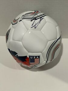 CHRISTIAN PULISIC SIGNED TEAM USA SOCCER BALL WORLD CUP DAMAGED PROOF JSA COA