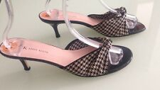 Anne Klein Houndstooth Black And White Sandal Slides Heels, 9.5