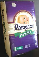 Vintage diapers Pampers Baby diapers sealed Pack Free ship!