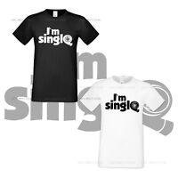 I Am Single Turbine Tshirt Auto Race Car Funny Mens Shirt All Sizes S XXXL