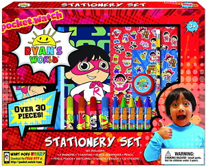 Ryan's World Coloring Art Set for Boys Girls Stickers + Pencil Pouch Stationery