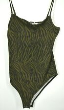 Cotton:On Womens Carissa Straight Back Printed Bodysuit Square Neck Spaghetti L
