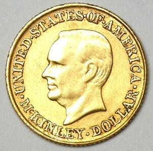 1917 McKinley Commemorative Gold Dollar Coin G$1 - XF / AU Details