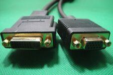 DVI-I 24+5 Male to VGA + DVI-I 24+5 Female AV Monitor Screen Splitter Cable