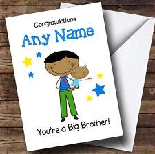 Asiatico BIG BROTHER congratulazioni NEW BABY BOY personalizzata Sibling CARD