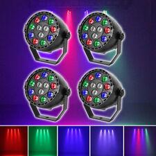 4 PCS RGBW 12 LED luz etapa DMX Par discoteca efecto iluminación estroboscópica