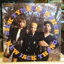 """[RAP]~NM 12""""~SILK TYMES LEATHER~New Jack Thang~{x5 Mixes]~The Rhyme Goes On~1990"""