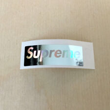 Supreme vinyl sticker hologram skateboard decal bumper box logo mini foil silver