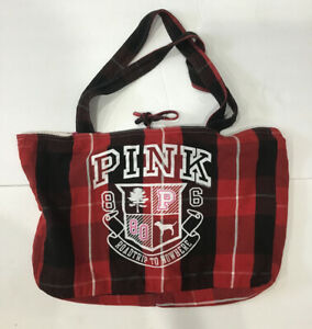Dark Red Paisley Plaid Reusable Tote Bag with Snap Closure