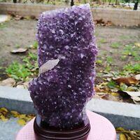 5.8kg Natural Amethyst geode quartz cluster specimen reiki healing 3
