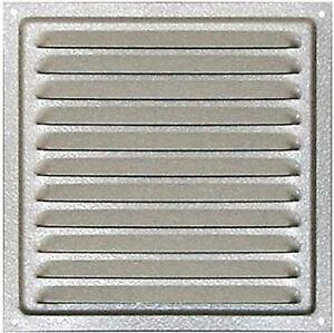 Griglia di ventilazione 25 x 25 cm in acciaio zincato con zanzariera per insetti