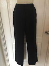 Sportscraft Women's Career Pants - Black Pinstripe, Zip, Pockets, Lined - Size 8
