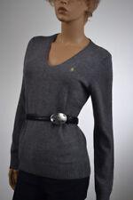Ralph Lauren Sport Gray Merino Wool Cashmere V Neck Sweater Large NWT