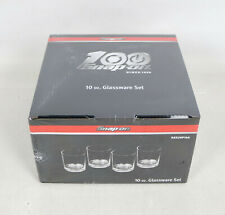 Snap On Tools 100th Anniversary 10 Oz Glassware Set Four Shot Glass Ssx20p144