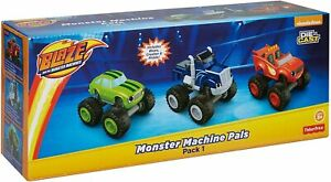 NEW Nickelodeon Blaze and The Monster Machines Blaze Crusher Pickle, 3 Pack