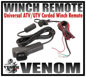 VENOM UNIVERSAL 12V ATV/UTV WINCH CORDED REMOTE SWITCH 11' WATERPROOF