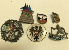 Antique Vintage Austria Pin lot Olympics ski lodge resort travel winter souvenir