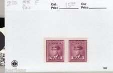 Canada 1948 #280 ** MNH F - King George VI coil stamp pair