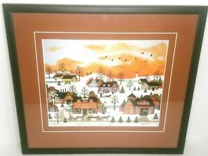 Jane Wooster Scott A Sunset Long Ago Painting Framed Matted Print 21 x 19