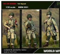 1/35 Resin Figure Model Kit US Airborne Big Set (3 figures) WWII WW2 Unpainted