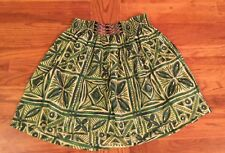 Anthropology Vanessa Virginia Green Cotton Skirt Women's Size 6