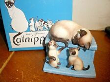 Vintage Catnippers Roman A Tail of Two Kitties Irene Spencer Signed Siamese box