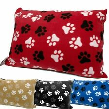 Large Fleece Snuggle Dog Bed Soft Hollowfibre Filled Pads & Zipped Cushion Cover