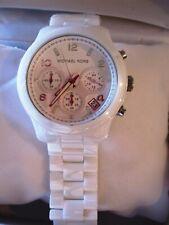 Michael Kors White Dial White Ceramic Bracelets Midsized Ladies Watch MK5161