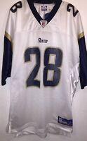 Reebok NFL On Field Jersey St. Louis Rams Marshall Faulk #28 Home Throwback XL