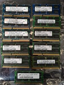 Selection of 2gb Pc3 memory 11 in total sold as seen