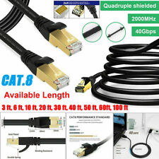 Ethernet Cable Cat 8 Lan Rj45 Cable Shielded Network Cord For Laptop Router Lot