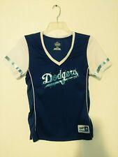 Dodgers Women's MLB Majestic Fan Fashion Shirt Size Medium Embellished Blue
