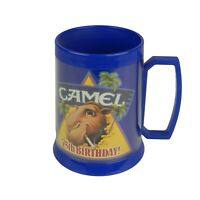 Vtg 1988 Joe Camel Cigarettes 75th Anniversary Plastic Mug Cup