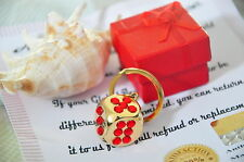 Lucky Dice Charm key ring Key fob 24K Gold Plated Diamante Crystal Decorated