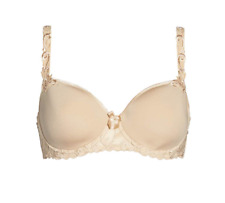 Simone Perele Andora 3D Molded Underwire Nude Womens Bra Sz 34G 2422