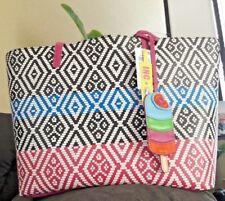 INC International Concepts Reyna Large Tote Pink/blue Stripe MSRP$99.50